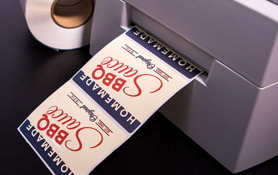 White gloss inkjet roll labels in use
