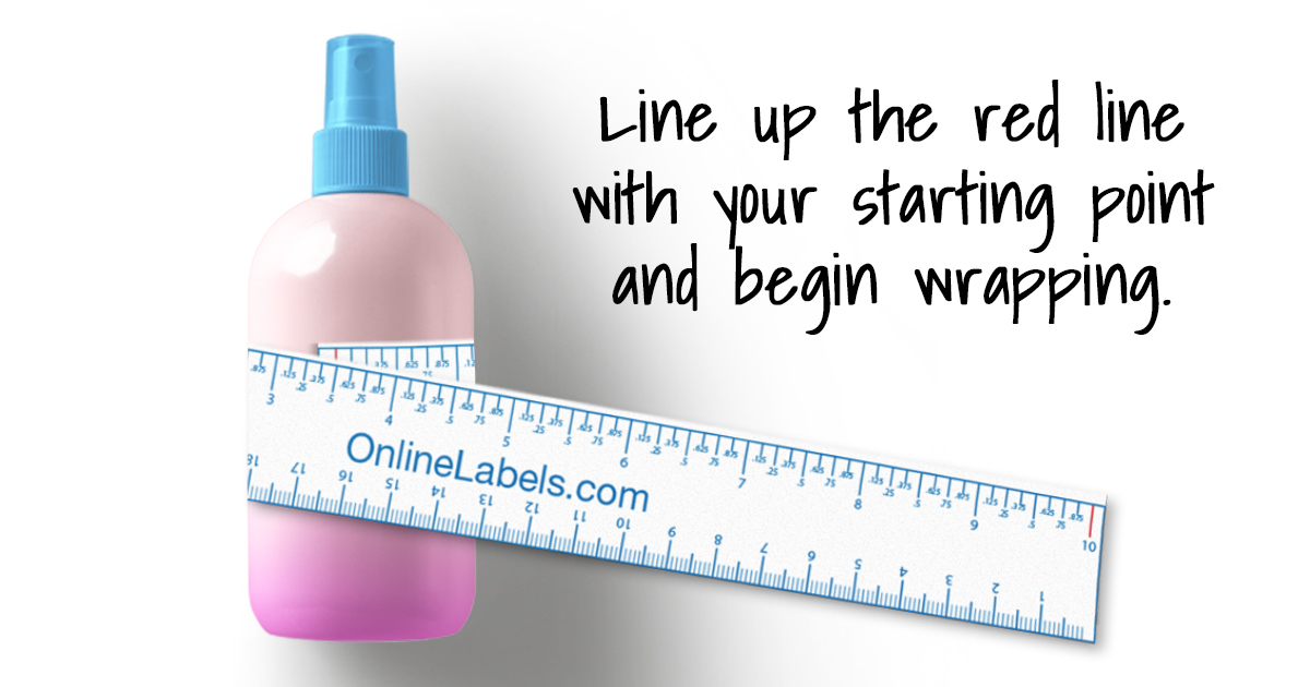 Use the printable ruler to measure your curved, rounded, or bottle-shaped container